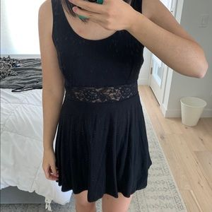 Forever 21 Black Skater Dress with Lace.